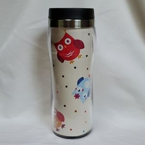 Other - 🍁Owl plastic insulated travel cup, 16 oz🍁
